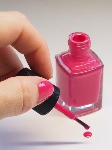 remove nail polish stain from wood
