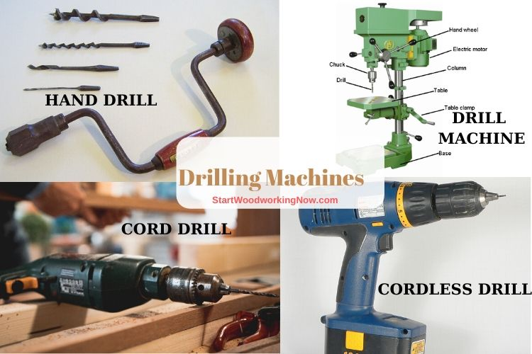 Drills types for woodworking