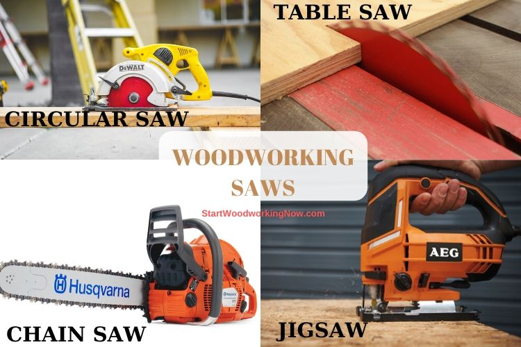 Saws type Tools for Woodworking