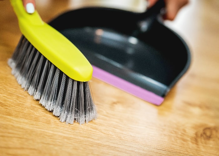 soft broom cleaning
