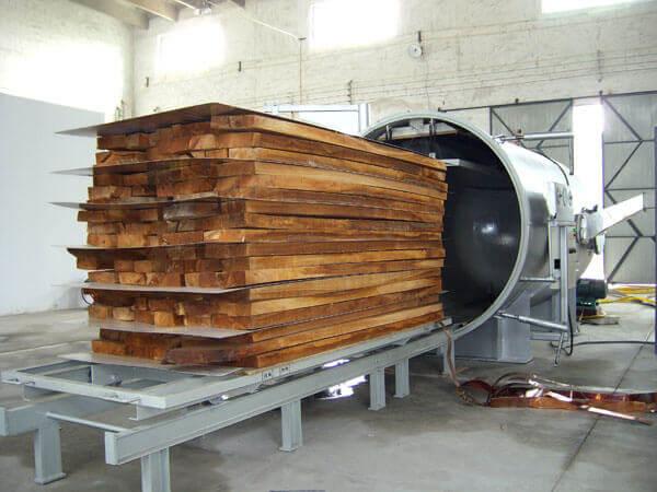 vacuum drying wood