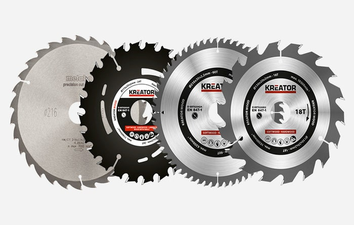 Choosing a saw blade according to use