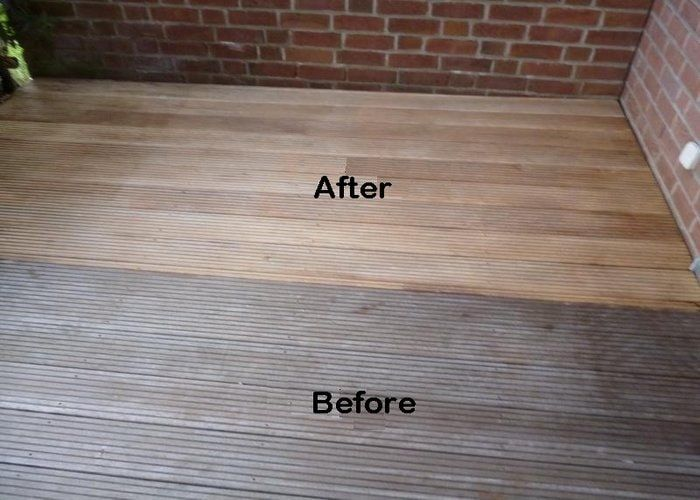 bleach wood before and after