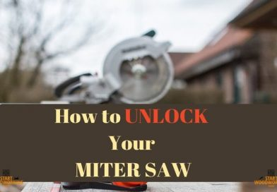 how to unlock your miter saw