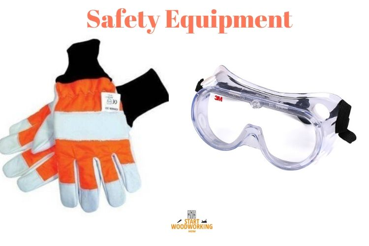 safety equipment when changing the miter saw blade