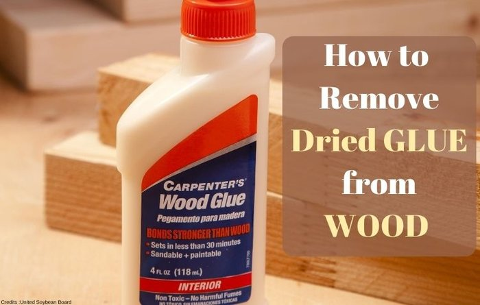 how to remove dried glue from wood