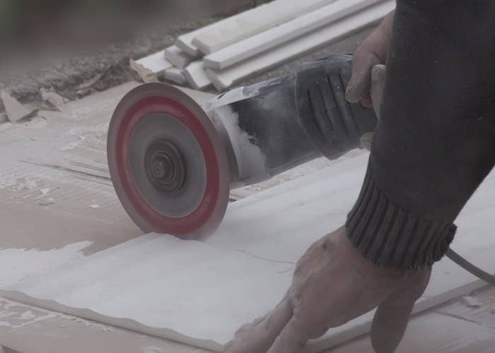 angle grinder used to cut tiles