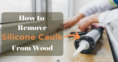 how to remove silicon caulk from wood