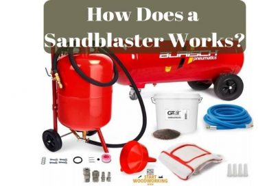 how does a sandblaster work