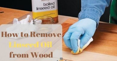 how to remove linseed oil from wood