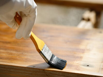 how to age wood with wax
