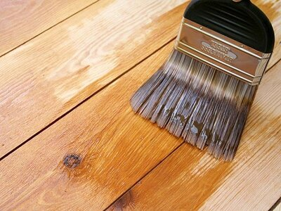 Apply the oil to the wooden floor