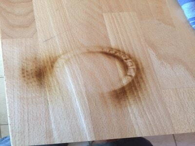 how to remove burn marks from wood table