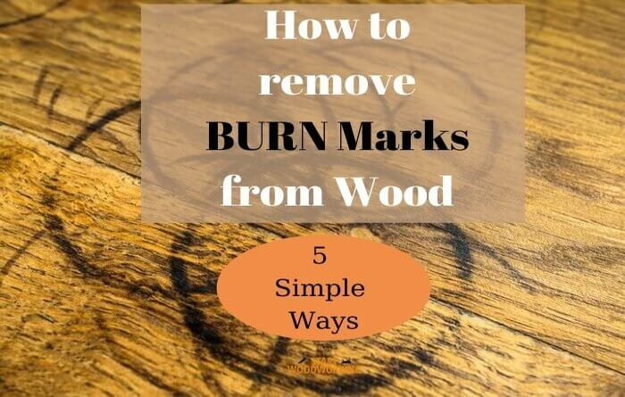 how to remove burn marks from wood