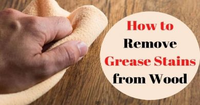 how to remove grease from wood