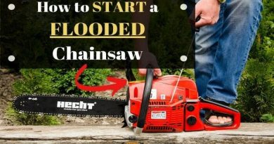 how to start a flooded chainsaw