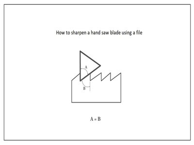 how to sharpen hand saw using a file