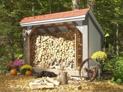 cord of firewood storage shed