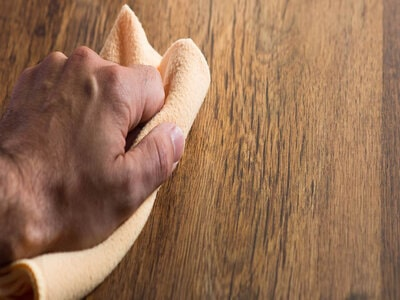 Remove residue from the wood surface