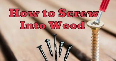 how to screw into wood