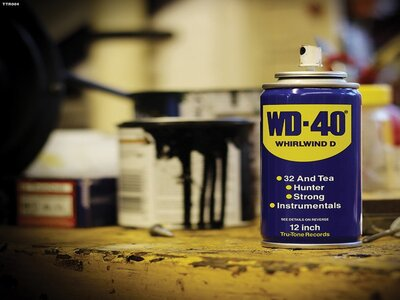 Remove Tape Residue from Wood using WD-40